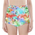 Colorful Mosaic  High-Waisted Bikini Bottoms View1