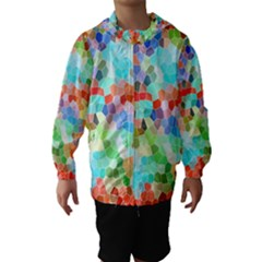 Colorful Mosaic  Hooded Wind Breaker (kids)