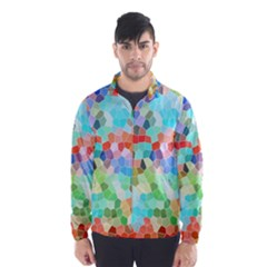 Colorful Mosaic  Wind Breaker (Men)