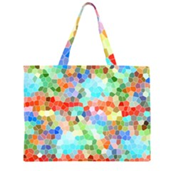 Colorful Mosaic  Large Tote Bag