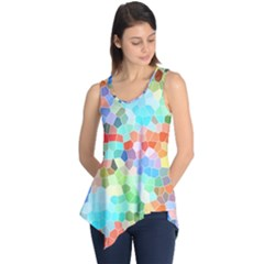 Colorful Mosaic  Sleeveless Tunic