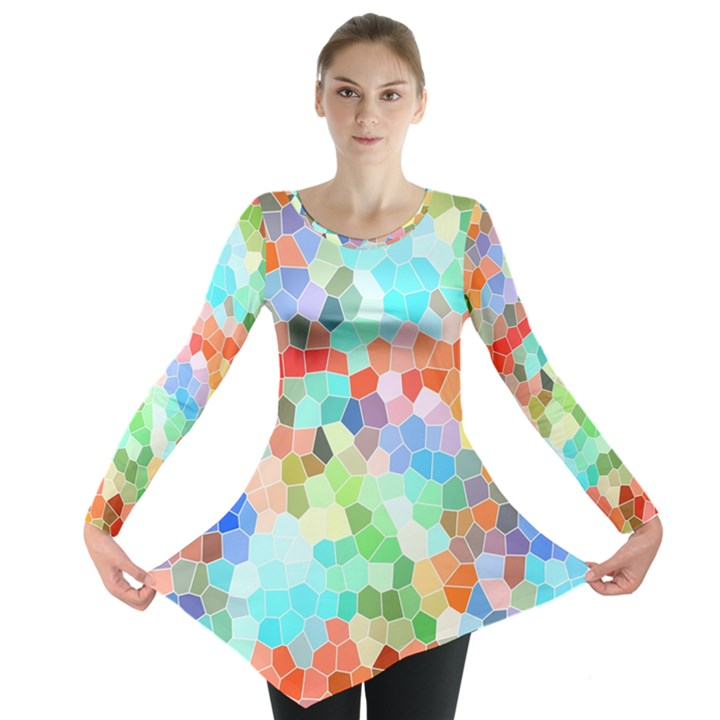 Colorful Mosaic  Long Sleeve Tunic