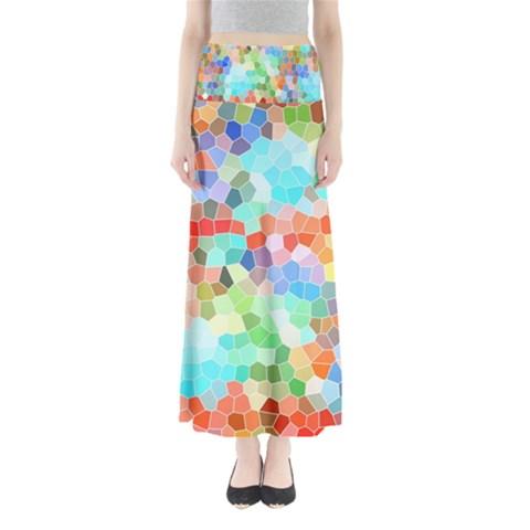 Colorful Mosaic  Maxi Skirts