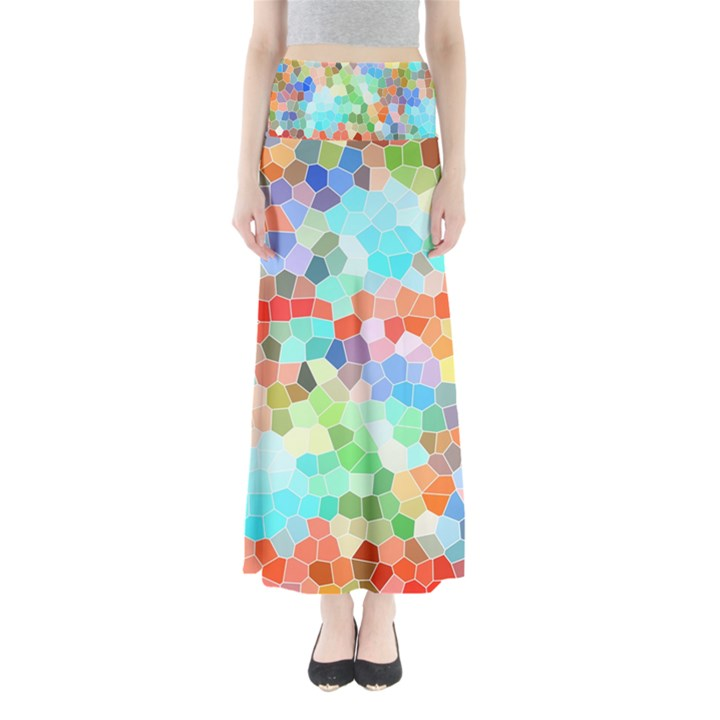 Colorful Mosaic  Maxi Skirts