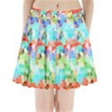 Colorful Mosaic  Pleated Mini Skirt View1