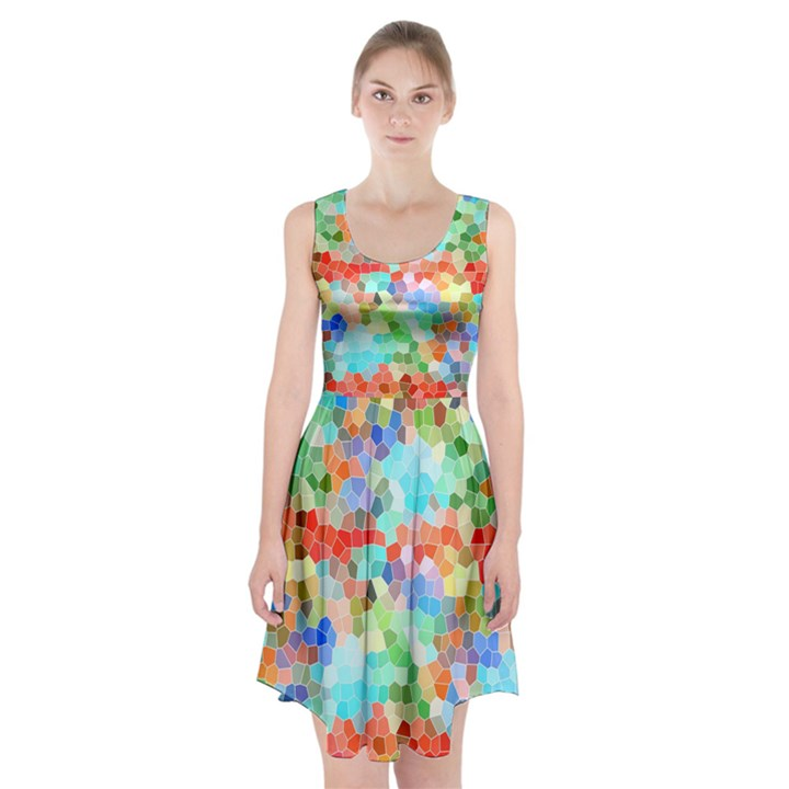 Colorful Mosaic  Racerback Midi Dress