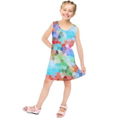 Colorful Mosaic  Kids  Tunic Dress
