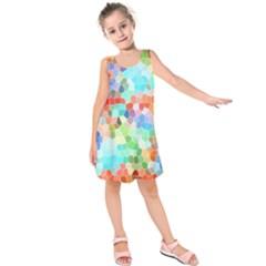 Colorful Mosaic  Kids  Sleeveless Dress