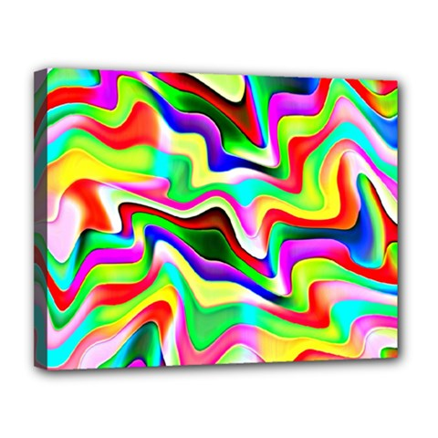 Irritation Colorful Dream Canvas 14  x 11