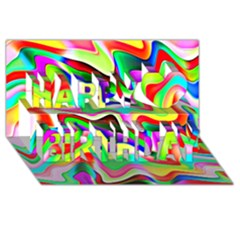 Irritation Colorful Dream Happy Birthday 3D Greeting Card (8x4)