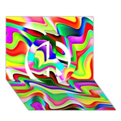 Irritation Colorful Dream Peace Sign 3d Greeting Card (7x5)