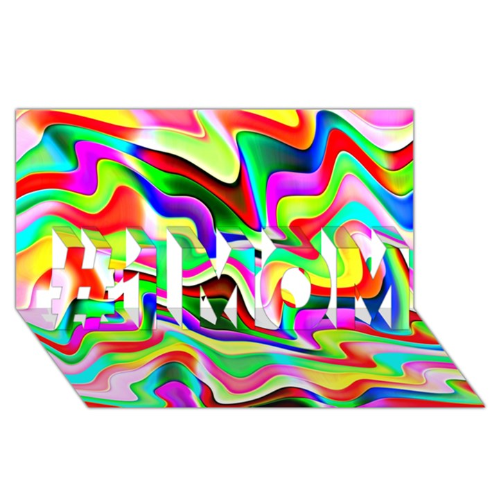 Irritation Colorful Dream #1 MOM 3D Greeting Cards (8x4)