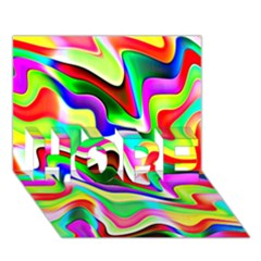 Irritation Colorful Dream HOPE 3D Greeting Card (7x5)