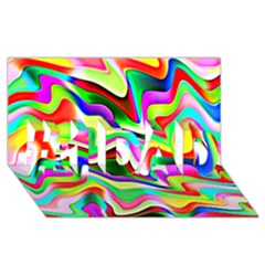 Irritation Colorful Dream #1 DAD 3D Greeting Card (8x4)