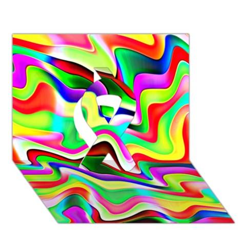 Irritation Colorful Dream Ribbon 3D Greeting Card (7x5)