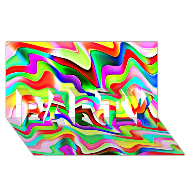 Irritation Colorful Dream PARTY 3D Greeting Card (8x4)