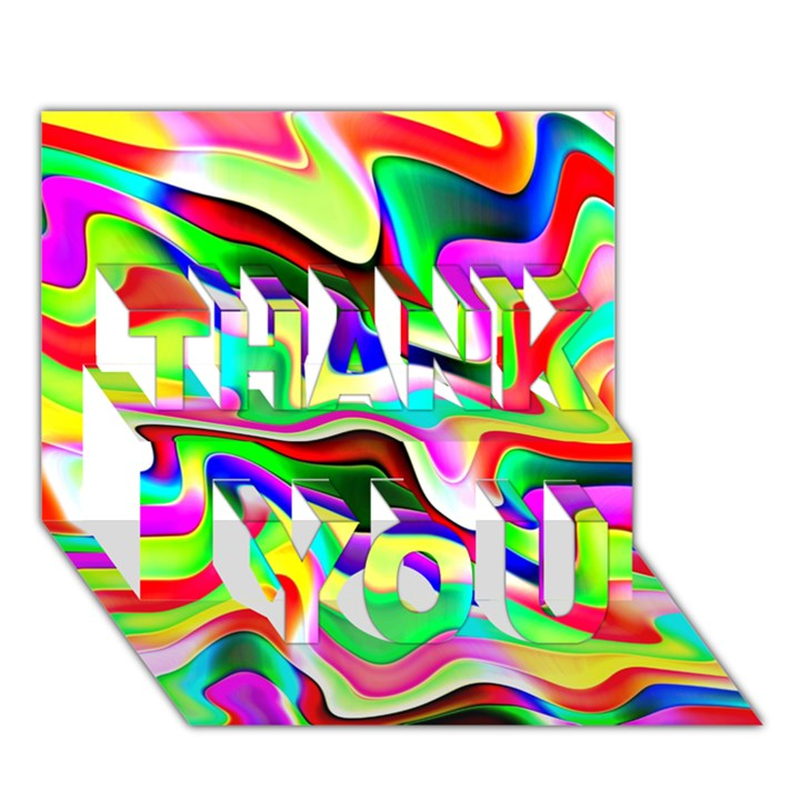 Irritation Colorful Dream THANK YOU 3D Greeting Card (7x5)