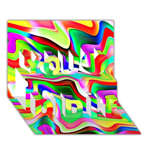 Irritation Colorful Dream You Did It 3D Greeting Card (7x5)