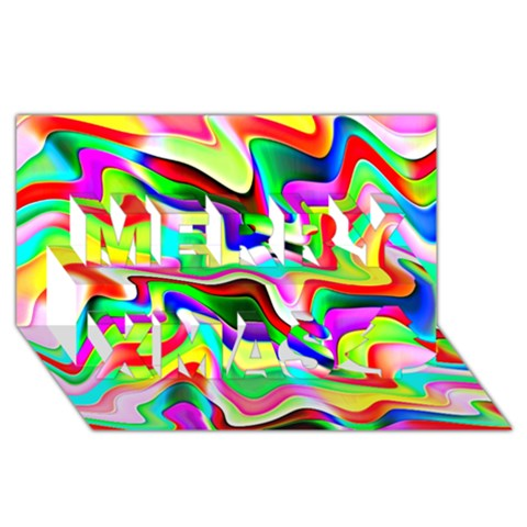 Irritation Colorful Dream Merry Xmas 3D Greeting Card (8x4)