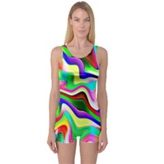 Irritation Colorful Dream One Piece Boyleg Swimsuit