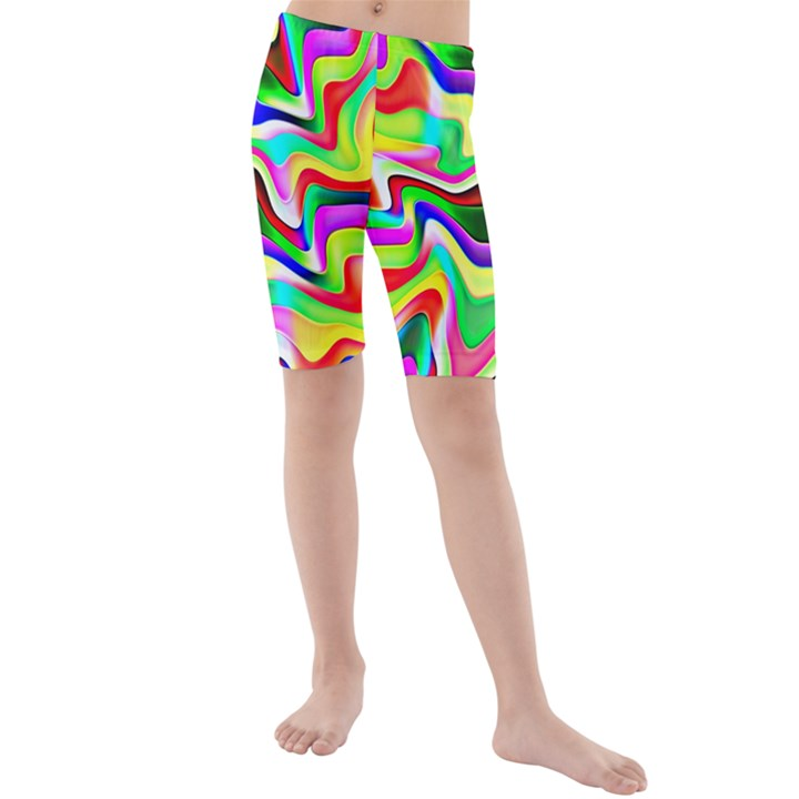 Irritation Colorful Dream Kids  Mid Length Swim Shorts