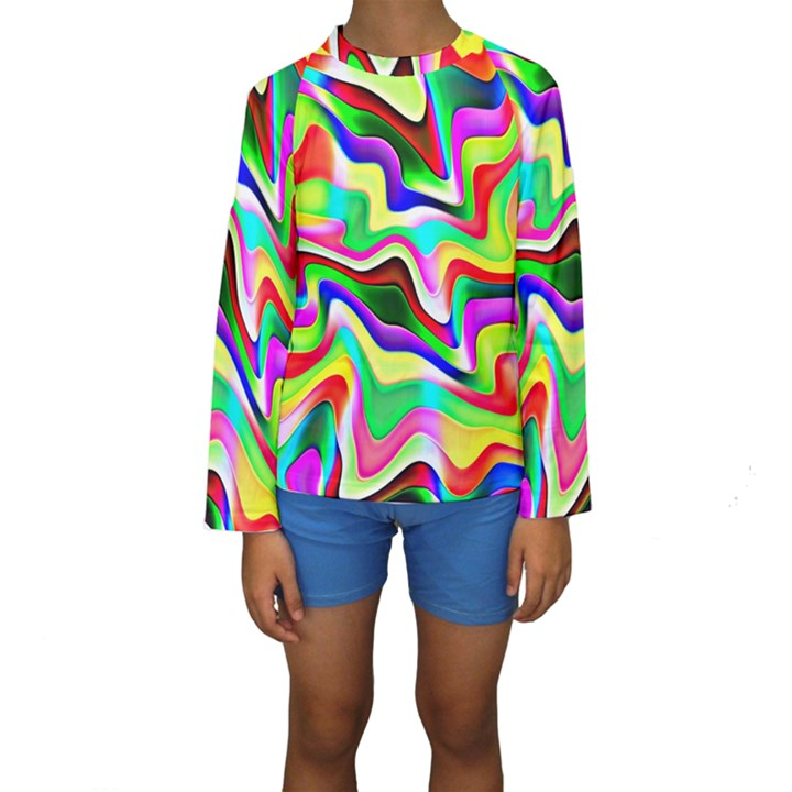 Irritation Colorful Dream Kids  Long Sleeve Swimwear