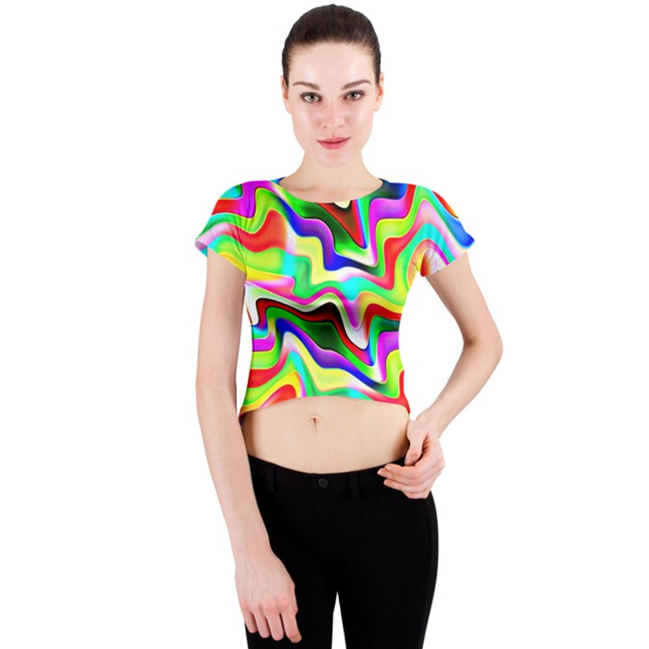 Irritation Colorful Dream Crew Neck Crop Top