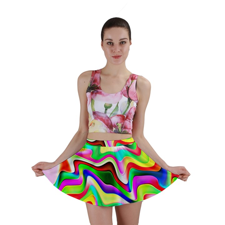 Irritation Colorful Dream Mini Skirt