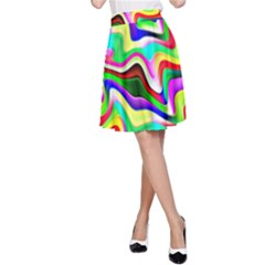 Irritation Colorful Dream A Line Skirt