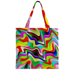 Irritation Colorful Dream Zipper Grocery Tote Bag