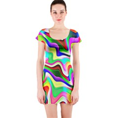 Irritation Colorful Dream Short Sleeve Bodycon Dress