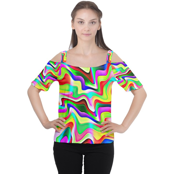 Irritation Colorful Dream Women s Cutout Shoulder Tee