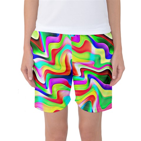 Irritation Colorful Dream Women s Basketball Shorts