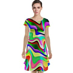 Irritation Colorful Dream Cap Sleeve Nightdress