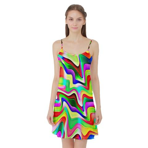 Irritation Colorful Dream Satin Night Slip