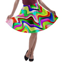 Irritation Colorful Dream A Line Skater Skirt