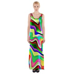 Irritation Colorful Dream Maxi Thigh Split Dress