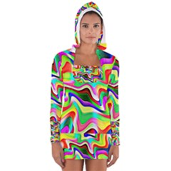 Irritation Colorful Dream Women s Long Sleeve Hooded T Shirt