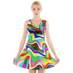 Irritation Colorful Dream V-Neck Sleeveless Skater Dress