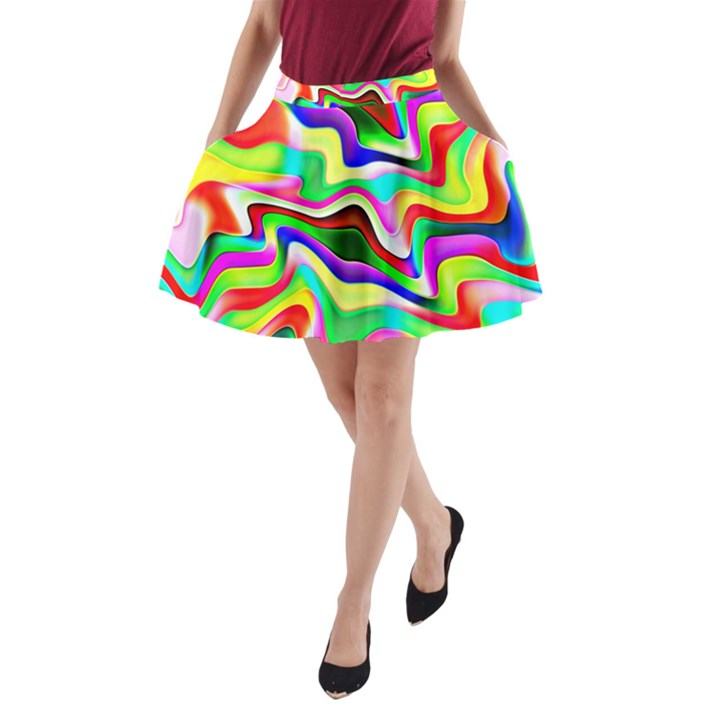 Irritation Colorful Dream A-Line Pocket Skirt