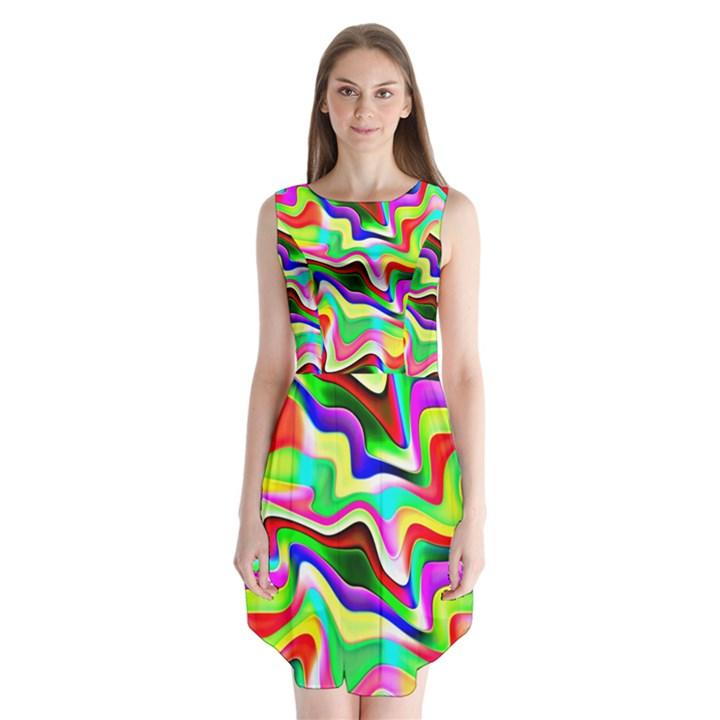 Irritation Colorful Dream Sleeveless Chiffon Dress