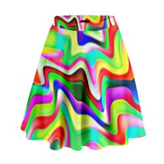 Irritation Colorful Dream High Waist Skirt