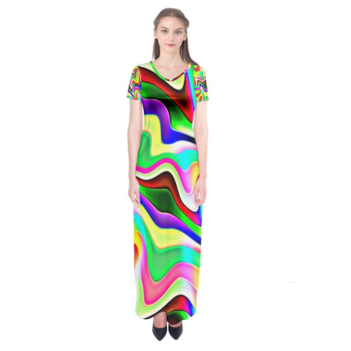 Irritation Colorful Dream Short Sleeve Maxi Dress