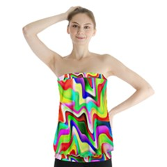 Irritation Colorful Dream Strapless Top
