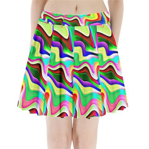 Irritation Colorful Dream Pleated Mini Skirt