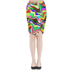 Irritation Colorful Dream Midi Wrap Pencil Skirt