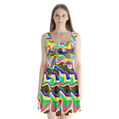 Irritation Colorful Dream Split Back Mini Dress