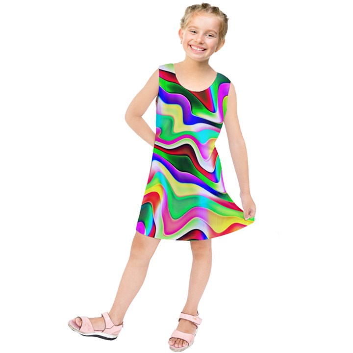 Irritation Colorful Dream Kids  Tunic Dress