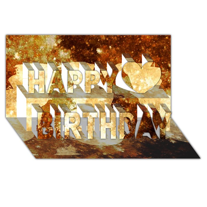 Sparkling Lights Happy Birthday 3D Greeting Card (8x4)