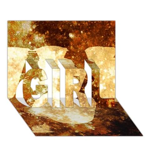 Sparkling Lights GIRL 3D Greeting Card (7x5)